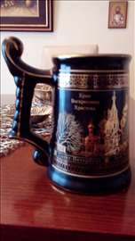 Pravo iz muzeja Ermitaž. Krigla porcelan ručni rad
