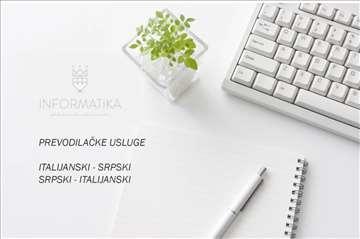 Prevodilačke usluge-italijanski