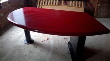 Kancelarijski sto, bordo medijapan