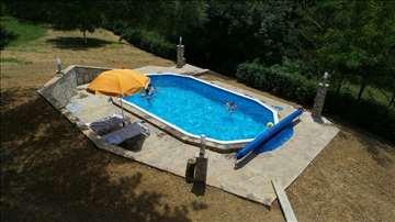 Gre montažni bazen 7.3 x 3.75 x 1.2 SET