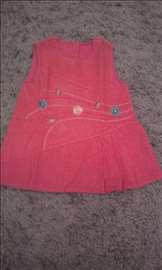haljinica somot roze