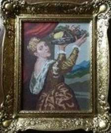 Goblen Devojka sa voćem
