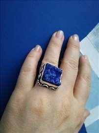 Masivan prsten Titanium Druzy