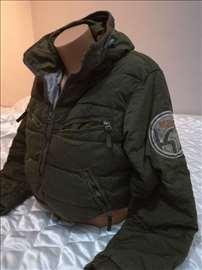 zimska jakna za decu maslinastozelena
