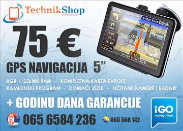 Gps Navigacija 5, TRUCK, prevedena,radari,Evropa..
