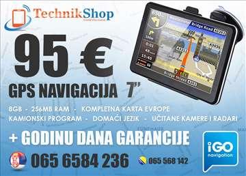 Gps Navigacija 7, TRUCK, prevedena,radari,Evropa..