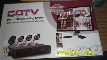 CCTV HD video nazor sa 4 kamera 2500TVL-novo