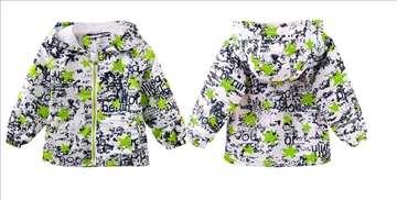 Novo jakna, šuškavac za decu sa zelenim zvezdicama
