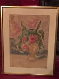 Slika vaza sa cvećem