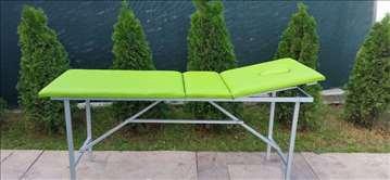 Sto krevet za masažu sa naslonom i otvorom zeleni
