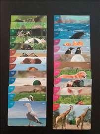 Životinjsko carstvo 2008 - retke sličice (25 kom)