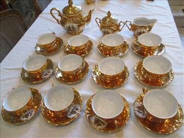 Bavaria, pozlaćen servis za čaj