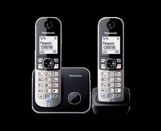 Telefon bežični sa dve slušalice kx-tg6812, novo!