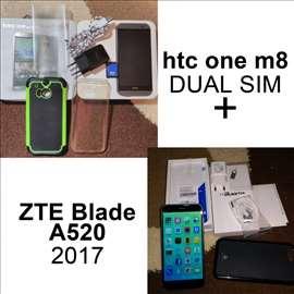 HTC One M8 Dual SIM + ZTE Blade A520