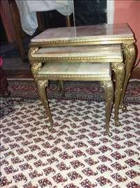 Set stolova Mesing-Mermer izuzetno ocuvani 100e.