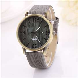 Geneva sat, narukvica sa teksturom drveta, model 1