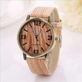 Geneva sat, narukvica sa teksturom drveta, model 2