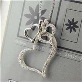 Ledena srca - srebrna ogrlica sa priveskom - hit!