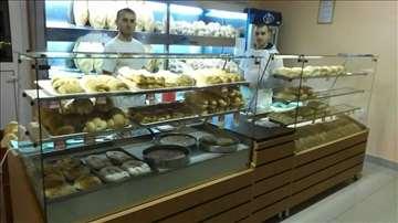 Tople i neutralne vitrine za pekare, picerije novo