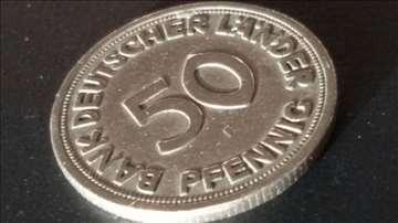 50 Bank Deutscher L.A.NDER pfennig