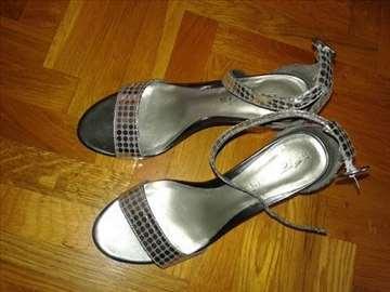Elegantne srebrne Tamaris Nove sandale POPUST