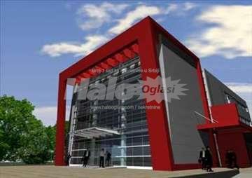 Nova luxuzna moderna poslovna zgrada