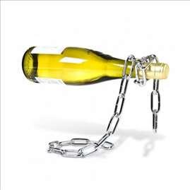 Držač za vino u obliku savijenog lanca
