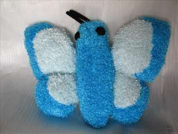 Jastuk leptir plavo-beli