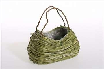 Korpa u obliku torbe zelena