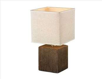 Stona lampa siva, braon i bela