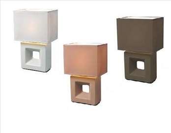 Stona lampa smeđa, braon i bela