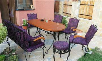 Stolice,dvosedi i stolovi od kovanog gvozdja