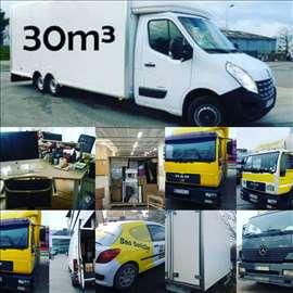 Prevoz robe vozilima od 20m3 do 45m3. 14godu poslu