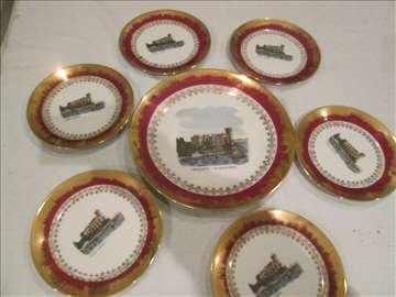 Trieste,  Miramare, komplet desertnih tanjira