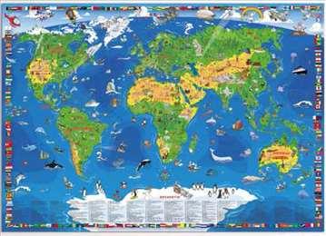 Akcija, XXL dečija karta sveta, nova