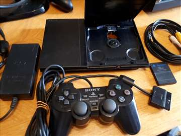 PS2 slim CIP-MOD+ joypad+5 igrica po želji odličan