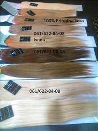 100% prirodna kosa na klipse svih boja, trese, kli