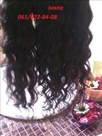 100% prirodna kovrdzava i ravna kosa na klipse