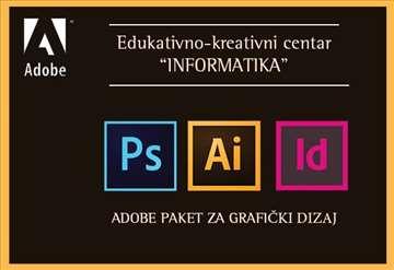 Adobe paket za  grafički dizajn - PS, AI i ID