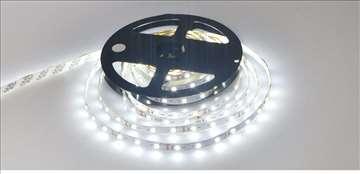 Hladno bela LED traka , 5 metara, 12v - NOVO
