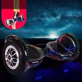 """Hoverboard sa ručkom - električni skuter 10"""" crni"""