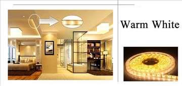 Toplo bela LED traka, 5 metara, 12v - NOVO