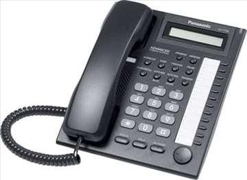 Telefon za Panasonic centrale, sistemski-beli-crni