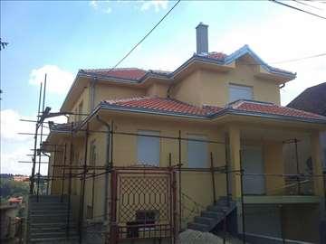 Izrada stiropor fasada sa našom skelom, Smederevo