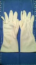 Zenske bele nylon rukavice Gea,West Germany,br.7