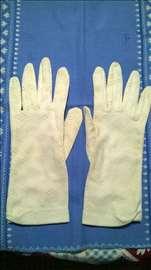 Zenske bele rukavice br.8 , ocuvane, vintage