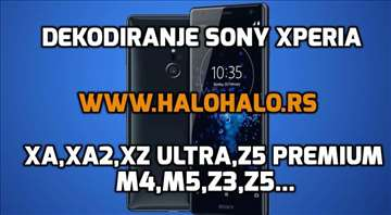 Dekodiranje Sony Xperia M4,M5,Z3,Z4,Z5