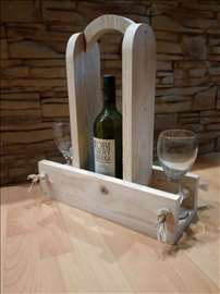Stalak za vino sa dve čaše