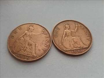 3  kovanice , velike britanije ,  penny