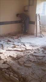 Odvoz, šuta, razbijanje betona